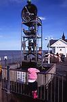 AMFY0D water clock Southwold pier Suffolk England