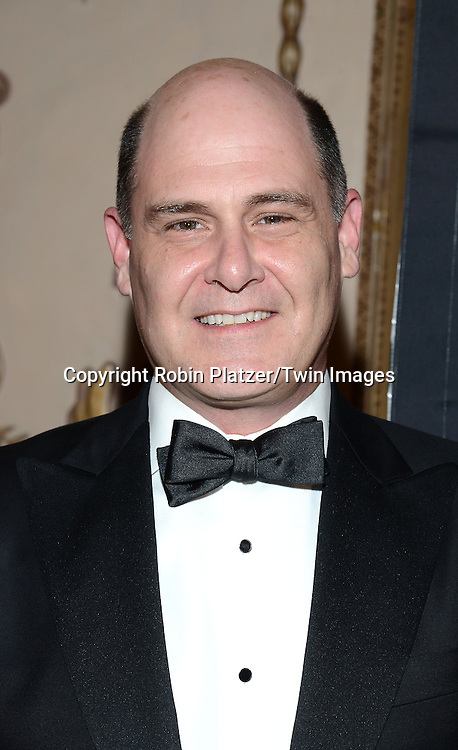 honoree Matthew Weiner attends the 24th Annual Broadcasting &amp; Cable Hall of Fame Awards Dinner on October 20, 2014 at The Waldorf Astoria Hotel in New York City. <br /> <br /> photo by Robin Platzer/Twin Images<br />  <br /> phone number 212-935-0770