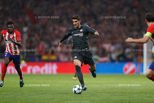 Alvaro Morata (Chelsea), SEPTEMBER 27, 2017 - Football / Soccer : UEFA Champions League Mtchday 2 Group C match between Club Atletico de Madrid 1-2 Chelsea FC at the Estadio Metropolitano in Madrid, Spain. (Photo by Mutsu Kawamori/AFLO) [3604]