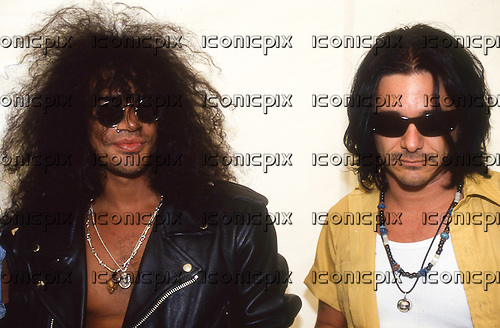 Slash's Snakepit - Slash and Gilby Clarke - press conference at the Monsters of Rock festival at Castle Donington Leicester UK - 26 Aug 1995.  Photo credit: George Chin/IconicPix
