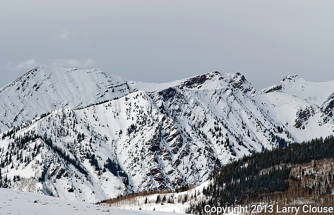 February 2013:  Winter light in the West Elk Range, Crested Butte, Colorado.