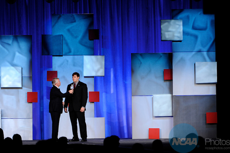 13 JAN 2011: The NCAA Honors Celebration inside the Grand Hyatt during the annual NCAA Convention held in San Antonio,TX. .Pictured: Dan Laurent, Today's Top VIII Award Winner.(Joshua Duplechian/NCAA Photos).