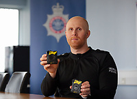 "Inspector Rob Miles who is in charge of the body cameras. Wednesday 17 May 2017<br /> Re: Body worn video cameras are being introduced into the South Wales Police force as part of operational equipment and will be rolled out over the next few months.<br />  Forces across the UK are using this technology and integrating it into daily policing activities.  Body worn video may be used in court as evidence and for investigative purposes, including complaints against police or as a training material for police. <br />  Other forces have seen a range of benefits from using body worn video to support their general patrolling and investigative tasks. These benefits include:<br /> Gathering and presentation of evidence<br /> Changing the behaviour of offenders<br /> Lower incidence or escalation of violence<br /> Increased guilty pleas by defendants<br /> Increased time on patrol and less time spent on paperwork<br /> Improved public co-operation and interactions with police<br /> Improved transparency and accountability<br /> Professionalising police interaction<br /> Assistant Chief Constable Richard Lewis said: ""Equipping our officers with body worn cameras is the start of a new way we capture, utilise and share digital evidence.  The technology is very exciting and will assist officers and staff in doing their jobs, it will ensure that we are more accountable to the public that we serve and in turn build trust with our communities."