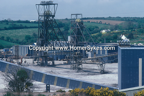 Wheal Jane Tin Mine 1970s near Baldhu and Chacewater in West Cornwall. Cornish Tin Mining Company. 1978 England.