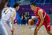 7th September 2017, Fenerbahce Arena, Istanbul, Turkey; FIBA Eurobasket Group D; Belgium versus Serbia; Shooting Guard Bogdan Bogdanovic #7 of Serbia in action  against Point Guard Sam Van Rossom #5 of Belgium during the match