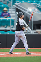 Michael Gasper (7) of the Bryant Bulldogs at bat against the Coastal Carolina Chanticleers at Springs Brooks Stadium on March 13, 2015 in Charlotte, North Carolina.  The Chanticleers defeated the Bulldogs 7-2.  (Brian Westerholt/Four Seam Images)