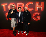 "Jordan Roth and Richard Jackson with son Jackson attends the Broadway Opening Night of ""Torch Song"" at the Hayes Theater on Noveber 1, 2018 in New York City."