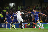 Stefano Okaka scores Watford's third goal during Chelsea vs Watford, Premier League Football at Stamford Bridge on 15th May 2017
