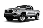 Stock pictures of low aggressive front three quarter view of a 2018 Toyota Tacoma SR5 Access Cab 4 Door Pick Up