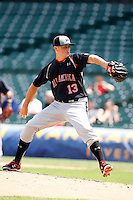 August 8, 2009:  Pitcher Kartsen Whitson (13) of the Baseball Factory team during the Under Armour All-America event at Wrigley Field in Chicago, IL.  Photo By Mike Janes/Four Seam Images
