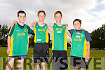 David Lynch, Tim Pollman-Daamen, Sean Pollman-Daamen and Sam Blitz from An Riocht in Castleisland at the Tralee Harriers open sports day on Thursday