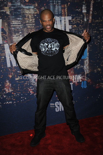 WWW.ACEPIXS.COM<br /> February 15, 2015 New York City<br /> <br /> <br /> Darryl McDaniels walking the red carpet at the SNL 40th Anniversary Special at 30 Rockefeller Plaza on February 15, 2015 in New York City.<br /> <br /> Please byline: Kristin Callahan/AcePictures<br /> <br /> ACEPIXS.COM<br /> <br /> Tel: (646) 769 0430<br /> e-mail: info@acepixs.com<br /> web: http://www.acepixs.com
