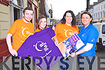 RELAY FOR LIFE: Launching the Relay For Life in association with the Irish Cancer Society to held on Saturday 29th and Sunday 30th of June at 2pm at the KDYS Centre, Tralee l-r: Robert Tuohy, Sharon Williams, Ciara O'Connor and Eileen Curran.