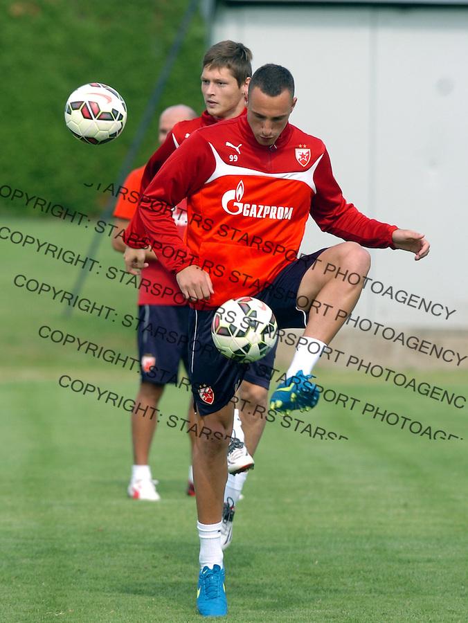 FUDBAL - PRIPREME - CRVENA ZVEZDA - TRENING - Petar Orlandic fudbaler Crvene Zvezde na treningu.<br /> Brezice, 18.06.2015.<br />                              foto:N.Skenderija
