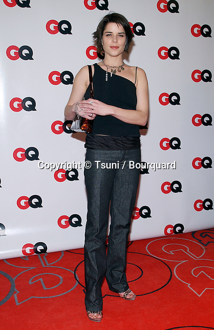 """Neve Campbell arriving at the """" GQ 4th HOLLYWOOD ISSUE """" at the White Lotus in Los Angeles. February 20, 2003."""