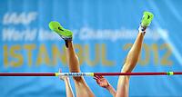 ISTAMBUL, TURQUIA, 09 DE MARCO 2012 - MUNDIAL DE ATLETISMO INDOOR - <br /> Tatyana Chernova atleta da Russia durante salto no Mundial de Atlestismo Indoor na Arena Atakoy em Istambul na Turquia, nesta sexta-feira, 09 marco. (FOTO: CHRISTIAN CHARISIUS  / BRAZIL PHOTO PRESS).