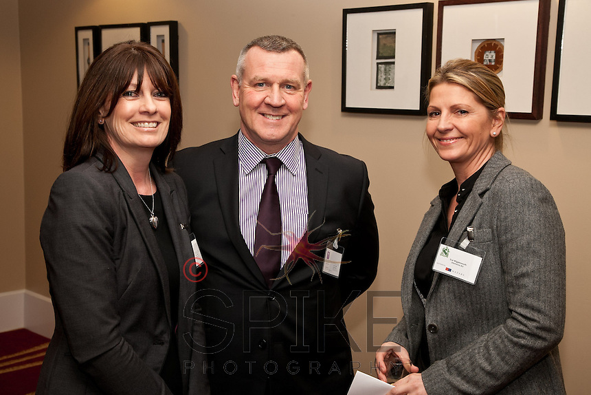 From left are Deborah and Stephen Mason of Mason Infotech with Sue Wigglesworth of Diamond AV