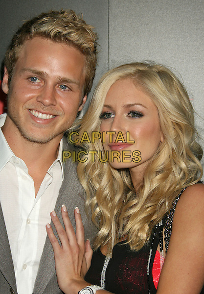 SPENCER PRATT & HEIDI MONTAG.LG Electronics (LG) Launch of the Scarlet HD TV Series held at the Pacific Design Center, West Hollywood, California, USA..April 28th, 2008.headshot portrait stubble facial hair hand on chest .CAP/ADM/RE.©Russ Elliot/AdMedia/Capital Pictures.