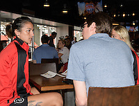 Houston, TX - Thursday Oct. 06, 2016: Abby Erceg during media day prior to the National Women's Soccer League (NWSL) Championship match between the Washington Spirit and the Western New York Flash at BBVA Compass Stadium.