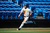 Michigan Wolverines center fielder Jonathan Engelmann (2) scores a run during a game against Army West Point on February 18, 2018 at Tradition Field in St. Lucie, Florida.  Michigan defeated Army 7-3.  (Mike Janes/Four Seam Images)