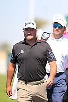 Graeme McDowell (NIR) heading for the 1st during the final round of  the Saudi International powered by Softbank Investment Advisers, Royal Greens G&CC, King Abdullah Economic City,  Saudi Arabia. 02/02/2020<br /> Picture: Golffile | Fran Caffrey<br /> <br /> <br /> All photo usage must carry mandatory copyright credit (© Golffile | Fran Caffrey)