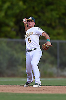Oakland Athletics third baseman Matt Chapman (6) during an Instructional League game against the San Francisco Giants on October 15, 2014 at Papago Park Baseball Complex in Phoenix, Arizona.  (Mike Janes/Four Seam Images)