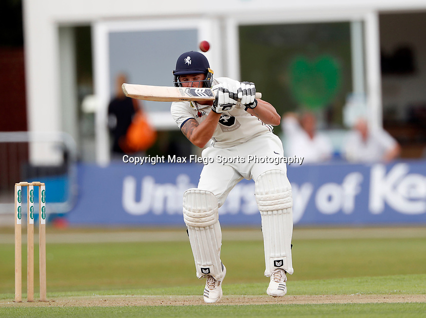 Harry Podmore bats for Kent during the County Championship Division 2 game between Kent and Leicestershire at the St Lawrence ground, Canterbury, on Sun July 22, 2018