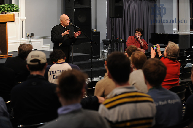 Francis Cardinal George, Archbishop of Chicago speaks in LaFortune