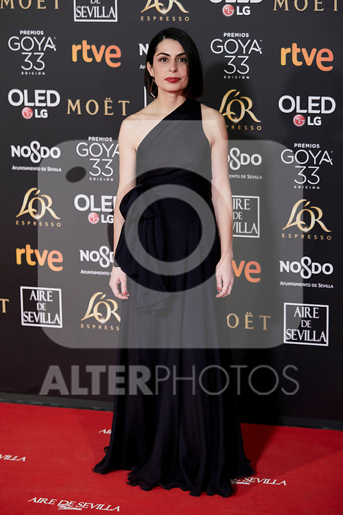 Celia Rico attends to 33rd Goya Awards at Fibes - Conference and Exhibition  in Seville, Spain. February 02, 2019. (ALTERPHOTOS/A. Perez Meca)