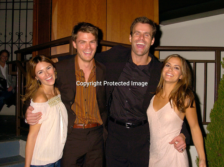 Rebecca Budig, Jeff Branson, Cameron Mathison and Liz ..Hendrickson ..at ABC Casino Night on October 7, 2004 at The Lighthouse..at Chelsea Piers. ..Photo by Robin Platzer, Twin Images