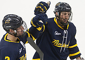 Ryan Cook (Merrimack - 2), Tyler Drevitch (Merrimack - 24) - The visiting Merrimack College Warriors defeated the Boston College Eagles 6 - 3 (EN) on Friday, February 10, 2017, at Kelley Rink in Conte Forum in Chestnut Hill, Massachusetts.