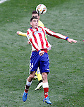 Atletico de Madrid's Jose Maria Gimenez (f) and Getafe's Alvaro Vazquez during La Liga match.March 21,2015. (ALTERPHOTOS/Acero)