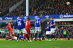 Leicester's Andrej Kramaric sends a shot just over the bar - Everton vs. Leicester City - Barclay's Premier League - Goodison Park - Liverpool - 22/02/2015 Pic Philip Oldham/Sportimage