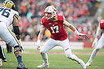Wisconsin Badgers linebacker Andrew Van Ginkel (17) during an NCAA College Big Ten Conference football game against the Michigan Wolverines Saturday, November 18, 2017, in Madison, Wis. The Badgers won 24-10. (Photo by David Stluka)