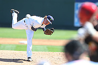 Andrew Moore (23) of the Everett AquaSox pitches during a game against the Vancouver Canadians at Everett Memorial Stadium on July 28, 2015 in Everett, Washington. Everett defeated Vancouver, 8-5. (Larry Goren/Four Seam Images)