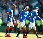 31.03.2019 Celtic v Rangers: Andy Halliday shouting at Alfredo Morelos after red card