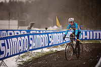 Kevin Pauwels (BEL) during course recon &amp; training<br /> <br /> 2015 UCI World Championships Cyclocross <br /> Tabor, Czech Republic