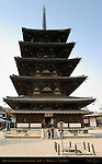 Gojunoto 5-story Pagoda, 710 AD, World's Oldest Wooden Pagoda, Horyuji, Nara, Japan