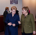 Brussels-Belgium - February 07, 2013 -- European Council, EU-summit meeting of Heads of State / Government; here, Dalia GRYBAUSKAITE (le), President of Lithuania, and Angela MERKEL (ri), Federal Chancellor of Germany -- Photo: © HorstWagner.eu