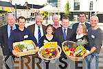 FOOD FAIR: Trevor Sargent, Minister of State for Food and Horticulture pictured in Killorglin on Monday at the food fair. Pictured l-r: John Pierce (South Kerry Development Partnership), Paul Haywood (Milltown Market), John O'Connor (Chairman SKDP Agri-commission), Mary O'Riordan (Milltown Market), James Curran (Meat Producer), Minister Trevor Sargent, Tom Curran (County Manager), Claire and Tomas O'Connor (Manna Organic, Tralee).     Copyright Kerry's Eye 2008