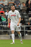Pictured: Craig Beattie of Swansea. Saturday 24 July 2010<br /> Re: Swansea City FC v Cheltenham Town pre-season friendly at the Liberty Stadium in Swansea south Wales.
