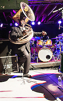 The Preservation Hall Jazz Band opens for B.B. King at Tipitinas in New Orleans, LA.
