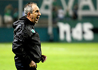 PALMIRA-COLOMBIA-19-04-2018: Gerardo Pelusso, técnico de Deportivo Cali, durante partido entre Deportivo Cali y Alianza Petrolera, de la fecha 16 por la liga Aguila I 2018, jugado en el estadio Deportivo Cali (Palmaseca) en la ciudad de Palmira. / Gerardo Pelusso, coach of Deportivo Cali, during a match between Deportivo Cali and Alianza Petrolera, of the 16th date for the Liga Aguila I 2018, at the Deportivo Cali (Palmaseca) stadium in Palmira city. Photo: VizzorImage  / Nelson Rios / Cont.