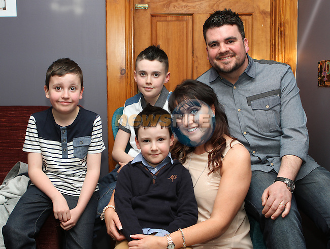 Jenny O'Brien celebrates her birthday in Tower Bar and Grill with her husband Tony and sons Jack, Joey and Ben...(Photo credit should read Jenny Matthews/NEWSFILE)...