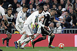 (L-R) Real Madrid's Carlos Henrique Casemiro, Raphael Varane, Daniel Carvajal and AFC Ajax's Dusan Tadic during a UEFA Champions League match. Round of 16. Second leg. March, 5,2019. (ALTERPHOTOS/Alconada)