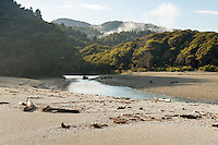 Morning at Smoothwater Bay with Smoothwater River near Jackson Bay, South Westland, West Coast, World Heritage Area, South Island, New Zealand