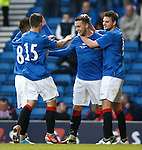 Chris Hegarty celebrates his goal for Rangers