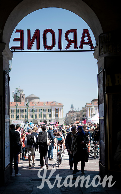 race start in beautiful Cuneo<br /> <br /> Stage 12: Cuneo to Pinerolo (158km)<br /> 102nd Giro d'Italia 2019<br /> <br /> ©kramon