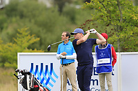 Simon Dyson (ENG) tees off the 16th tee during Sunday's Final Round of the Northern Ireland Open 2018 presented by Modest Golf held at Galgorm Castle Golf Club, Ballymena, Northern Ireland. 19th August 2018.<br /> Picture: Eoin Clarke | Golffile<br /> <br /> <br /> All photos usage must carry mandatory copyright credit (&copy; Golffile | Eoin Clarke)
