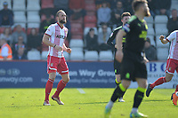 Fraser Franks of Stevenage during Stevenage vs Cambridge United, Sky Bet EFL League 2 Football at the Lamex Stadium on 14th April 2018